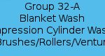 Group 32-A - Blanket Wash Impression Cylinder Wash Brushes / Rollers / Venturi