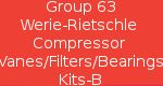 Group 63 Werie-Rietschle Compressor Vanes/Filters/Bearing Kits -B